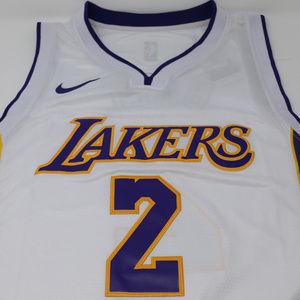 reputable site 68189 2b6e2 Lonzo Ball #2 Los Angeles Lakers Mens White Jersey NWT